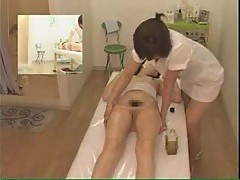 Massage with oils for Japanese slut