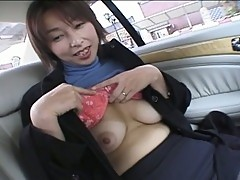 Married japanese milf gone wild in pussy playing fun in car