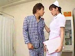 Sexy Hot Asian Japanese Nurse Gives Hot Blowjob..