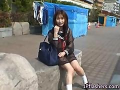 Mikan Hot Asian Model Likes Flashing Her Part2