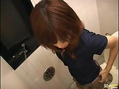 Sex In The Public Bathroom with a Menstruating Japanese Girl