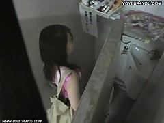 Uniform Girl Toilet Masturbation
