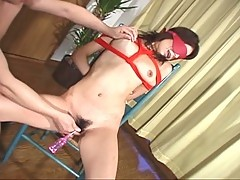 Nasty milf japanese slut tied, tortured and fucked non-stop