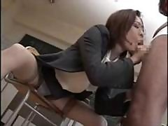 Asian School Teacher Gets A Bunch Of Cocks For Messy Bukkake