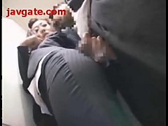 Business Woman Takes It In Elevator