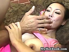 Ange Venus is a mature Asian MILF who has giant h