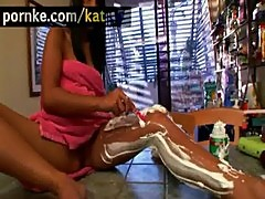 Kat young asian teen shave legs