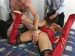 Katsumi holds onto her heels while sucking dick