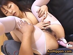 Slut rei himekawa gets anus fucked with t ...