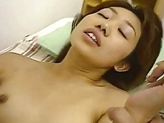 Rui Aiuchi gets cum on her stomach after riding!