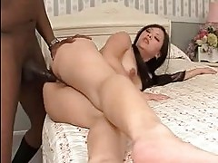 Tina Lee bends over and fucks her cunt deep