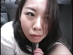 Asian Cutie Yuka Ono Gives Head To Her Boyfriend In The Car