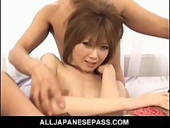 Rika sakurai double teamped by two hard cocks