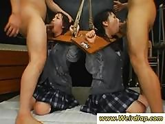 Asian Schoolgirls Are Bound And Get Cocks In Their Mouths For Cum