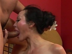 Asian slut Angie Venus fucked by huge cock
