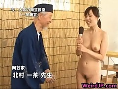 Asian model is nude for educational