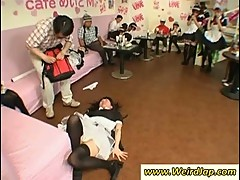 Hottie asian maids gets humiliated